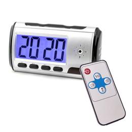 Compra Online Micro cámara espía oculto-Control Remoto Spy Despertador Cámara Micro Hidden Nanny Cam Detección de movimiento Mini DV DVR Video Recorder