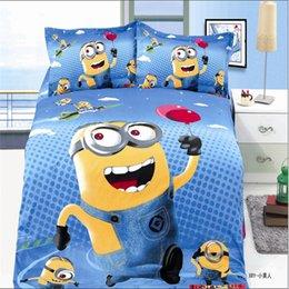 Wholesale classic animation boys bedding set duvet cover bed sheet pillow case bed linen set plane beans sheep