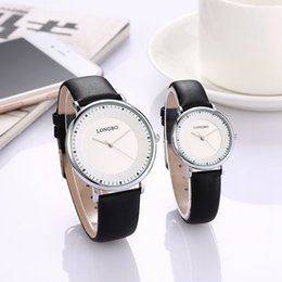 Longbo luxury stylish men and women's watch with a minimalist, neutral quartz waterproof wristwatch strap with free shipping