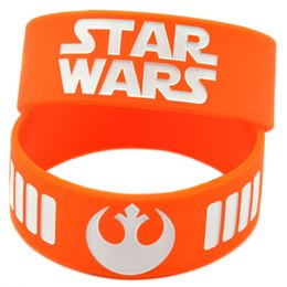 Wholesale Shipping New Arrival 50PCS Lot Star Wars Rebel Alliance Silicon Wristband Perfect To Use In Any Benefits Gift For Gamer