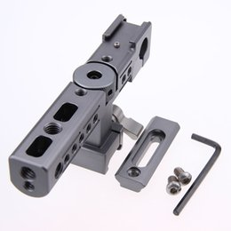 Wholesale CAMVATE Good quality top handle grip with hot cold shoe mm rod hole for QR DLSR camera cage
