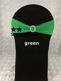 Green Color Lycra Spandex Chair Band With Buckle Used On Wedding Spandex Chair Cover Free Shipping