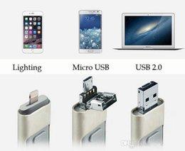 Wholesale SURE GB GB G GBFlash Drive USB Memory Stick in OTG iFlash Drive HD U Disk for Android iPhone S S iPad PC