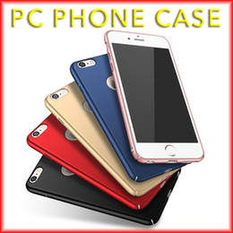 Wholesale For iPhone s Ultra Thin Phone Case Matte All Inclusive PC Hard Case Solid Color New with Opp Package