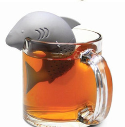Cute Silicone Shark tea infuser Leaf Strainer Herbal Spice Filter Diffuser Filter Teapot Teabags for Tea & Coffee Drinkware TOP1499Z