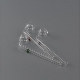 Wholesale 14cm Curved Glass Bong Dry Herb Pipes Glass Pipe with different colored glass balancer stock in Australia