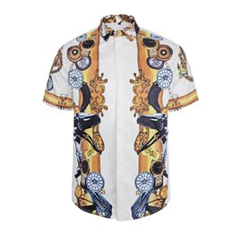 fashion Wave Of Men Floral Print Colour Mixture Luxury parblo Casual Harajuku Shirts Long sleeves Men's Medusa Shirts