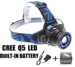 CREE XML Q5 LED Headlight Headlamp Head Lamp Light Focus For Fishing Bicycle Camping Hiking Free Epacket