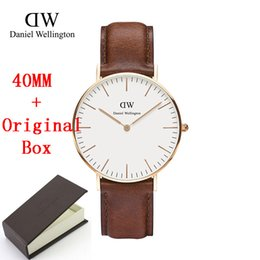 Wholesale Retail Luxury Brand Daniel Wellington Watch With Box Fashion Style Nylon Strap MM DW Wristwatch Men Women Unisex Chirstmas Gift