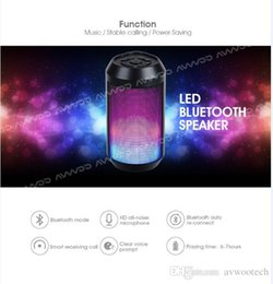 Wholesale Portable LED colorfull Lights Bluetooth Speaker Handsfree Receive Call with Mic for Promotion directly from AVWOO manufacturer