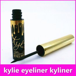 Wholesale Kylie Jenner Gold Eyeliner Kylie Mascara Waterproof Long Lasting Black Kyliner Birthday Christmas Gifts K010