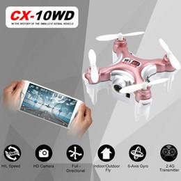 Promotion vidéo rc RC Quadcopter Chex CX-10WD CX10WD CX-10WDTX Wifi FPV Haute tenue Mode CX10 CX10W Mise à jour Version Mini Drone Helicopter Toy Gift