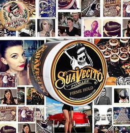 Wholesale Suavecito Pomade Strong style restoring Hair wax big skeleton hair slicked back oil wax mud keep men Hot Sale Cosmeitcs Gifts