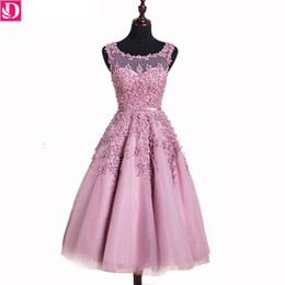 In Stock Special Occasion Dresses A-line Appliques Beaded Short Prom Dresses Sleeveless Vestido De Festa Pretty Banquet Party Dresses 8662