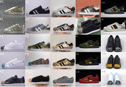 Chaussures de sport bon marché à vendre-Boy Girl Superstar 80s Metal Toe Chaussures Homme Sport Chaussures, Cheap Men Women Classic Skate Chaussures Sneakers With Box