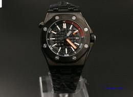Promotion cru mens watch automatique Répliques de cas noirs de marque de nouvelles chaudes de mode de DATE de mode de luxe pour le poignet montre les montres automatiques des hommes automatiques d'acier inoxydable