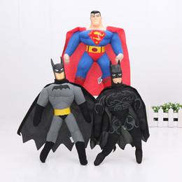2017 superhéroes juguetes de peluche Los héroes estupendos de 12pcs los 25cm la felpa de Batman de la liga de justicia del caballero oscuro juega 3 caracteres embroma los juguetes presupuesto superhéroes juguetes de peluche