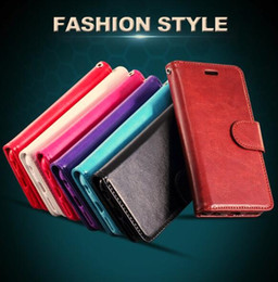 PU Leather Flip Folio Wallet Case for Apple Iphone 7plus Iphone 6S Wallet Stand Cases,Crazy Horse Back Cover for Samsung Galaxy S8 S7 S6edge