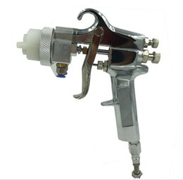 Wholesale High Quality Air Pressure Spray Gun New painter double nozzle spray gun for chrome and silver mirror painting free DHL shipping