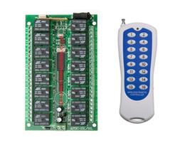2017 control remoto 315 Venta al por mayor-DC12v 16 canales de RF inalámbrico de control remoto del sistema receptor / interruptor de control remoto de salida del transmisor 315/433 es ajustable control remoto 315 promoción