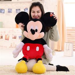 Acheter en ligne Ours saint valentin cadeau géant-EMS 1PCS Giant 140cm 55''inch Mickey Mouse et Minnie souris jouets TEDDY BEAR PLUSH HUGE SOFT TOY jouets en peluche Saint Valentin cadeau