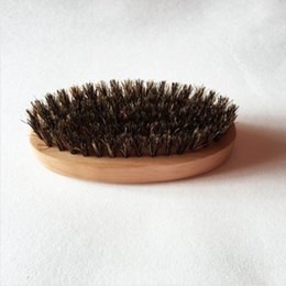 Wholesale Bamboo Beard Cleaning Brushes Men Shaving Face Massage Beard Scourer Eco Friendly Cleaning Brushes With Boar Bristles