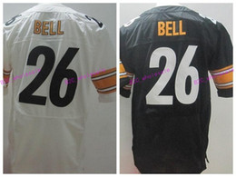 Wholesale Best Quality Le Veon Bell Jersey LeVeon Sport Uniforms Home Black White Yellow LeVeon Bell Throwback Jerseys Fashion