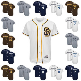 Wholesale 2017 San Diego Padres Jersey Ruddy Giron Clayton Richard Wil Myers Manuel Margot Hunter Renfroe Flexbase Onfiled Jersey