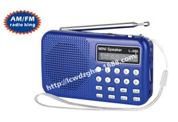 Pocket Mini Portable Digital FM Radio Speaker USB TF Card Mp3 Music Player with Light and Rechargeable Battery