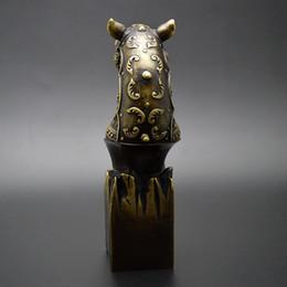 Wholesale Vieux Chinois Folk Bronze laiton cheval antique statue en bronze bronze