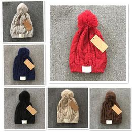 Wholesale 2017 Fashion Austrilia YOU GG Hats Hot Sale Women Classic Tight Knitted Fur Poms Hat Women Cap Winter Beanie Headgear Headdress F897