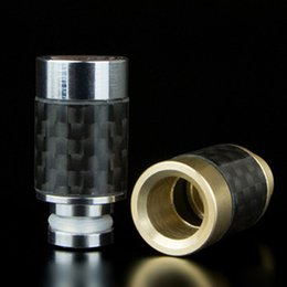 Stainless steel Drip Tips Carbon Fiber 510 Drip Tips Flat Wide Bore 510 Atomizer ego Mouthpieces Huge Vapor RDA Drip Tips DHL free