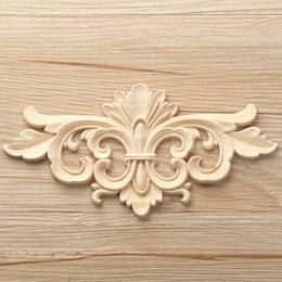tamao vintage unpainted madera decalada esquina onlay applique marco para muebles para el hogar pared gabinete puerta decorativas artesanas