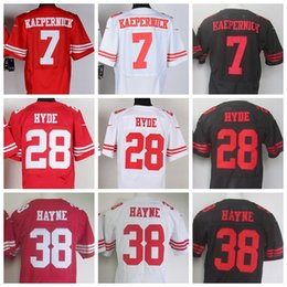Wholesale 2017 top quality Elite Mens ERS Football Jerseys Torrey Smith Smith Rice Carlos Hyde Reid Stitched Jerseys Mix Order