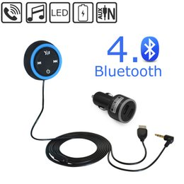 Wholesale Bluetooth Wireless Music Receiver Hands free Car Kit Speaker with mm Aux Input Audio Music Streaming NFC support