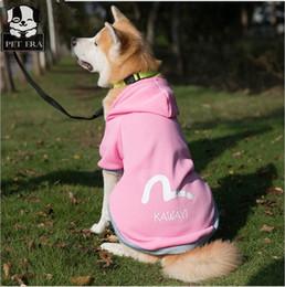 Купить Онлайн Головные уборы для собак-2017 новых, одежда для собак для большого свитера собак, весенний новый шлем для домашних животных спортивный свитер, самодийское и золотистый ретривер, одежда для собак, принадлежности для собак
