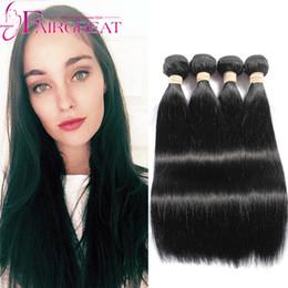 Promotion 22 pouces extensions de cheveux longueur 7A Unprocessed Cheveux Humains Indiens 4pcs / Lot Straight Human Hair Extension Cheveux indiens tissent paquets 6-34 pouces de longueur mixte