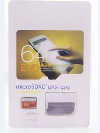 Wholesale Class EVO Go Carte Micro SD Micro SD Micro SD Carte Mémoire C10 Flash SDHC SD Adaptateur SDXC Blanc Orange