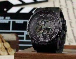 Eaux fraîches à vendre-Automatique hommes montre noir hommes montre-bracelet résistant à l'eau cool montres-bracelets de luxe montres hommes watchess