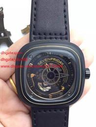 Descuento los mejores relojes de moda de calidad Reloj de la marca de Suiza de la manera de la edición limitada de la alta calidad Siete viernes M1 / 01 Movimiento de la correa de cuero del negro de la mejor edición del 1: 1 1: 1 82S7