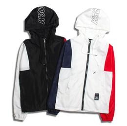 2019 new US streetwear skateboards jacket men casual windbreaker hooded coats hit color hiphop jackets Outerwear bomber