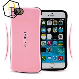 Wholesale Hybrid PC Iface iphone plus case shelter Samsung S6 case LG mall color point TPU Shockproof back cover hard case best protection