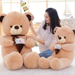 2017 crème glacée animale Lovely Big taille de crème glacée Teddy Bear Doll Peluche Toy Hug Bear Stuffed Animal Cadeaux de la Saint-Valentin abordable crème glacée animale