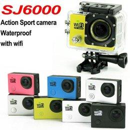 Mini grabador de vídeo resistente al agua en venta-SJ6000 WIFI cámara de vídeo de acción FHD 1080P 12MP 2inch mini grabadora de coche de la videocámara 30M DHL impermeable freeshipping