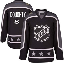 Wholesale Men s S XL Pacific Division Black Drew Doughty All Star Premier Los Angeles Kings Custom Hockey Jerseys Mix Order