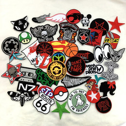 24pcs Mixed wholesale random sport America patch iron on bakcing sew on clothing EMBROIDERED EMBLEM APPLIQUE BIKER SEW CAP