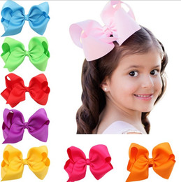 16 color Fashion Baby Ribbon Bow Hairpin Clips Girls Large Bowknot Barrette Kids Hair Boutique Bows Children Hair Accessories
