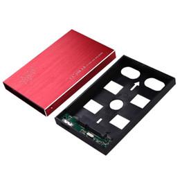 2017 una caja portadiscos disco Venta al por mayor nuevo PC USB 3.0 HDD externo SDD recinto 2.5 pulgadas SATA 3 unidad de disco duro portable Caddy caso de apoyo de 3 TB de aluminio una caja portadiscos disco limpiar