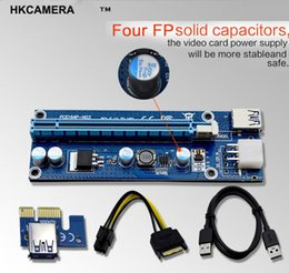 PCIe VER 006C 1x to 16x Powered Riser Adapter Card w  60cm USB 3.0 Extension Cable 6-Pin SATA Power GPU Adapter Ethereum BTC Mining ETH