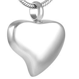 IJD8353 316L stainless steel Blank custom engraved heart pendant cremation urn ash jewelry with free shipping